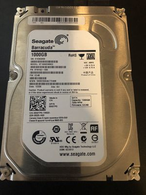 Seagate barracuda 1tb 3.5 hard drive 7200 rpm for Sale in Miami, FL