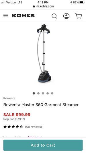 Rowrenta steamer for Sale in Springfield, VA