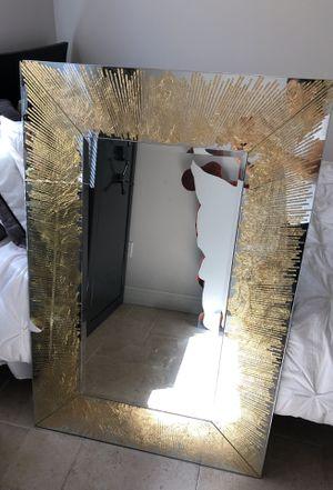 Nicole Miller gold foil burst mirror for Sale in Fort Lauderdale, FL