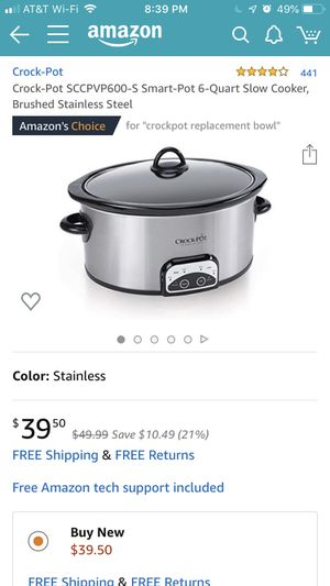 Crock Pot- 6 quart smart pot for Sale in Santa Barbara, CA