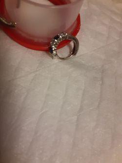 Sterling silver sapphire/ diamond earrings for Sale in Antioch,  TN