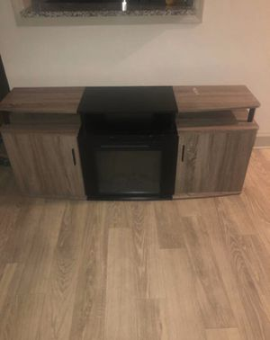 Tv stand with fire place for Sale in Atlanta, GA