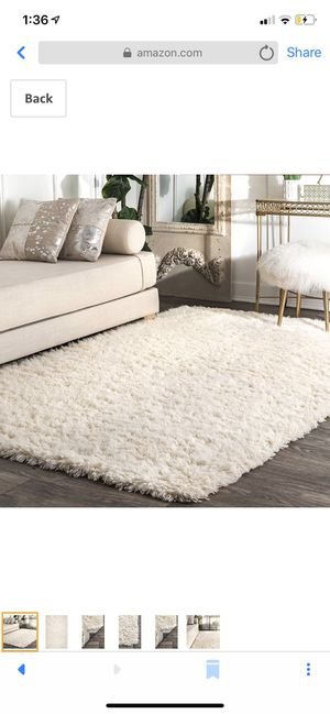 New 9x12 Nuloom Nida plush shag rug, solid ivory for Sale in Dublin, OH