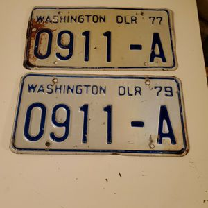 Dlr Plates for Sale in Wenatchee, WA