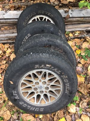 5 on 4.5 Jeep wheels rims tires for Sale in Puyallup, WA