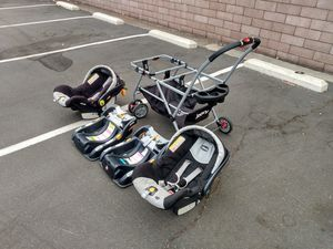 Double Stroller + Two Car Seat and Base for Sale in Orange, CA