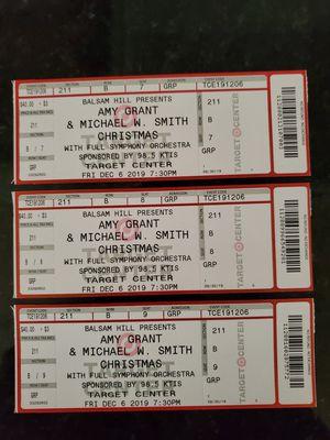 Amy Grant/MWS Concert tickets Dec6 for Sale in Eden Prairie, MN