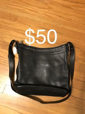 Coach purse handbag bag black leather tote for Sale in Monrovia, CA