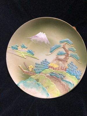 Hand painted wall plate of Japanese design for Sale in Tyler, TX