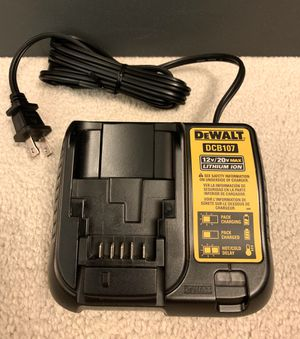 Brand new DeWALT 12-Volt and 20-Volt MAX Lithium-Ion battery charger DCB107 for Sale in Arcadia, CA