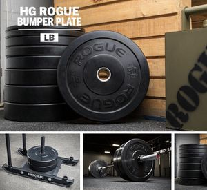 NEW Rogue HG 2.0 45s 35s 10s Sets Bumper Plates Olympic Weights keyword: power rack power cage squat rack bench dumbbells barbell bar for Sale in San Jose, CA