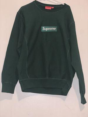 Supreme crewneck (dark green) for Sale in Murfreesboro, TN