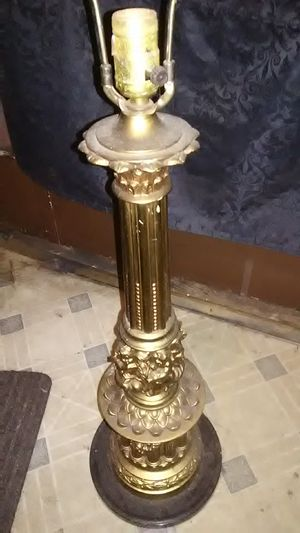 Marble base floor lamp. Approx 36 inches tall for Sale in Methuen, MA