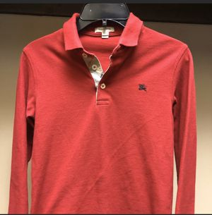 Red Burberry Long sleeve Polo/Sweater for Sale in Dallas, TX