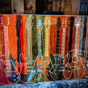 Beautiful 36x24 Famous Guitar Art On Plaque! for Sale in Beaverton, OR