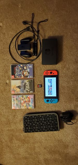 Nintendo Switch bundle with extras for Sale in South Riding, VA