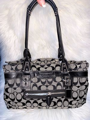 Authentic Black and Gray Coach Purse for Sale in Chandler, AZ
