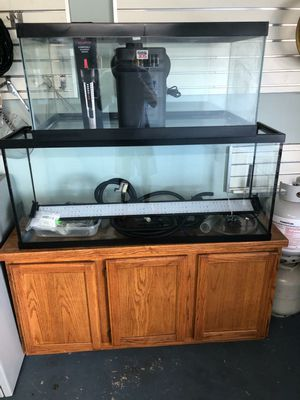 55 Gallon Aquarium w/ Filter, Heater, Lights, and More for Pick-Up ONLY for Sale in Houston, TX