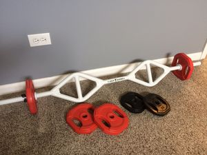 Barbell and weights for Sale in Plainfield, IL