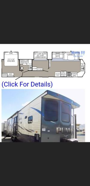 2019 40' puma 2 bedroom 3 slides 2 a/ c w/d self -contained power swing electric hitch out side shower patio . for Sale in Goddard, KS