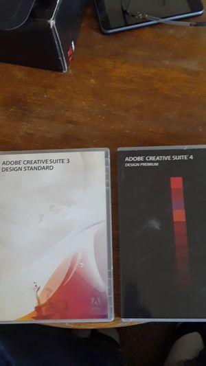 Adobe Creative Suite 4 Adobe Creative Suite 3 design standard and design premium for Sale in Pittsburg, CA