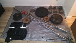 Weights, bars and vest for Sale in Las Vegas, NV
