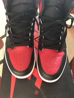 Sz.11.5 Brand New Jordan 1 retro Bred toe tried on for Sale in Woodbridge, VA