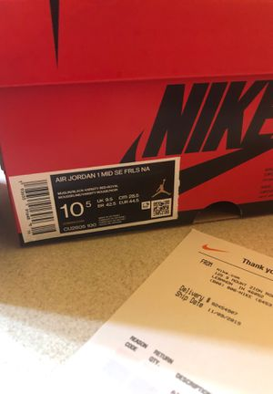 Air Jordan 1 Fearless - Blue the Great - size 10.5 for Sale in Plainfield, IL