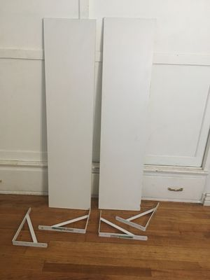 2 White Wall Shelves with Brackets for Sale in Beverly Hills, CA