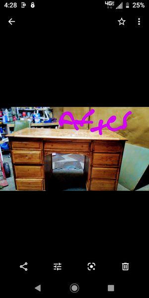 Antique oak desk /refinisjed for Sale in Hutchinson, KS