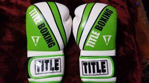 Title Boxing Gloves. Medium. 16 oz. Brand New. Green & white. for Sale in Norfolk, VA