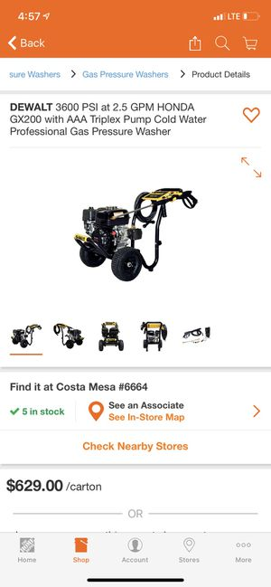 3600 PSI at 2.5 GPM HONDA GX200 with AAA Triplex Pump Cold Water Professional Gas Pressure Washer for Sale in Newport Beach, CA