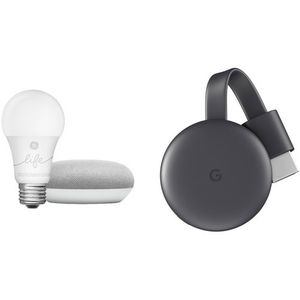 GoogleHome Mini, Smart Light, and Chromecast Kit (Chalk) for Sale in Los Angeles, CA