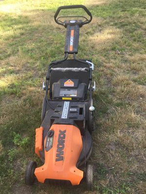 Worx lawn mower 300 or best offer brand new used once paid over 500 for Sale in Weehawken, NJ