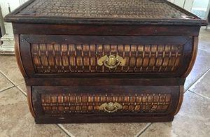Wicker wood drawer organizer desk box trunk storage for Sale in Rancho Cucamonga, CA