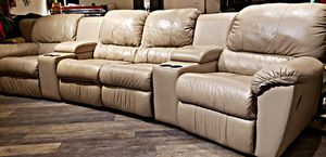 Affordable Genuine Leather Theater Sectional for Sale in Bow, WA