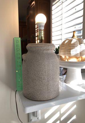 Unique pottery neural textured lamp for Sale in Virginia Beach, VA