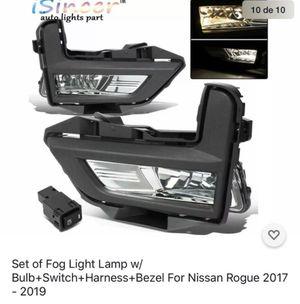 Set of Fog Light Lamp w/Bulb+Switch+Harness+Bezel For Nissan Rogue 2017 - 2019 for Sale in Gilbert, AZ
