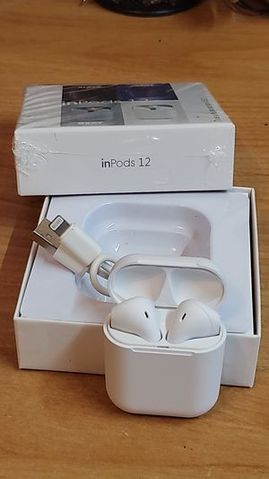 IinPods 12 white Bluetooth earphones new headphones headset earbuds for iPhone Android iPad for Sale in Vancouver, WA