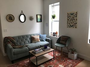 Couch, rug, & coffee table bundle! for Sale in Brooklyn, NY