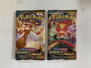 x2 Pokemon Darkness Ablaze booster packs for Sale in Seattle, WA