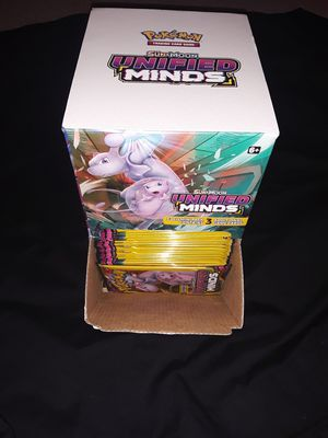 Pokemon cards 100 3 card booster packs and box for Sale in Philadelphia, PA