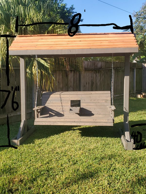 Patio porch swing with Stand roof...