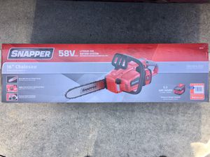 Snapper 58V cordless chainsaw for Sale in El Cajon, CA