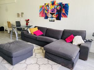SUPER OFFER!!!! KIVIK IKEA SECTIONAL GREY COUCH for Sale in Miami, FL