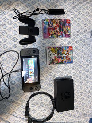 Nintendo Switch + Mariokart 8 Deluxe + Super Smash Bro's Ultimate for Sale in Tacoma, WA