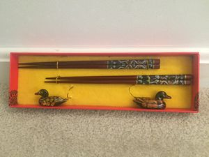 Engraved Chopsticks with holder for Sale in Springfield, VA