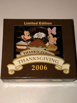 2006 Walt Disney World JUMBO Thanksgiving Pin Limited of 500 for Sale in Hemet, CA