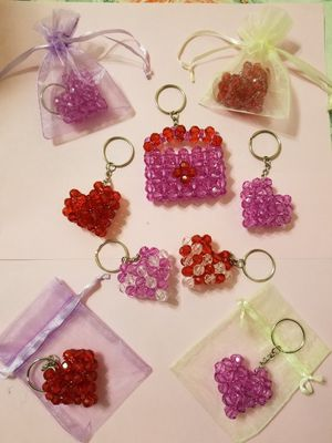Hand Made Acrylic Beaded Keychain for Sale in Daly City, CA
