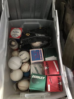 Softballs (tote full) and a Brand new Glove $50 for Sale in Gahanna, OH